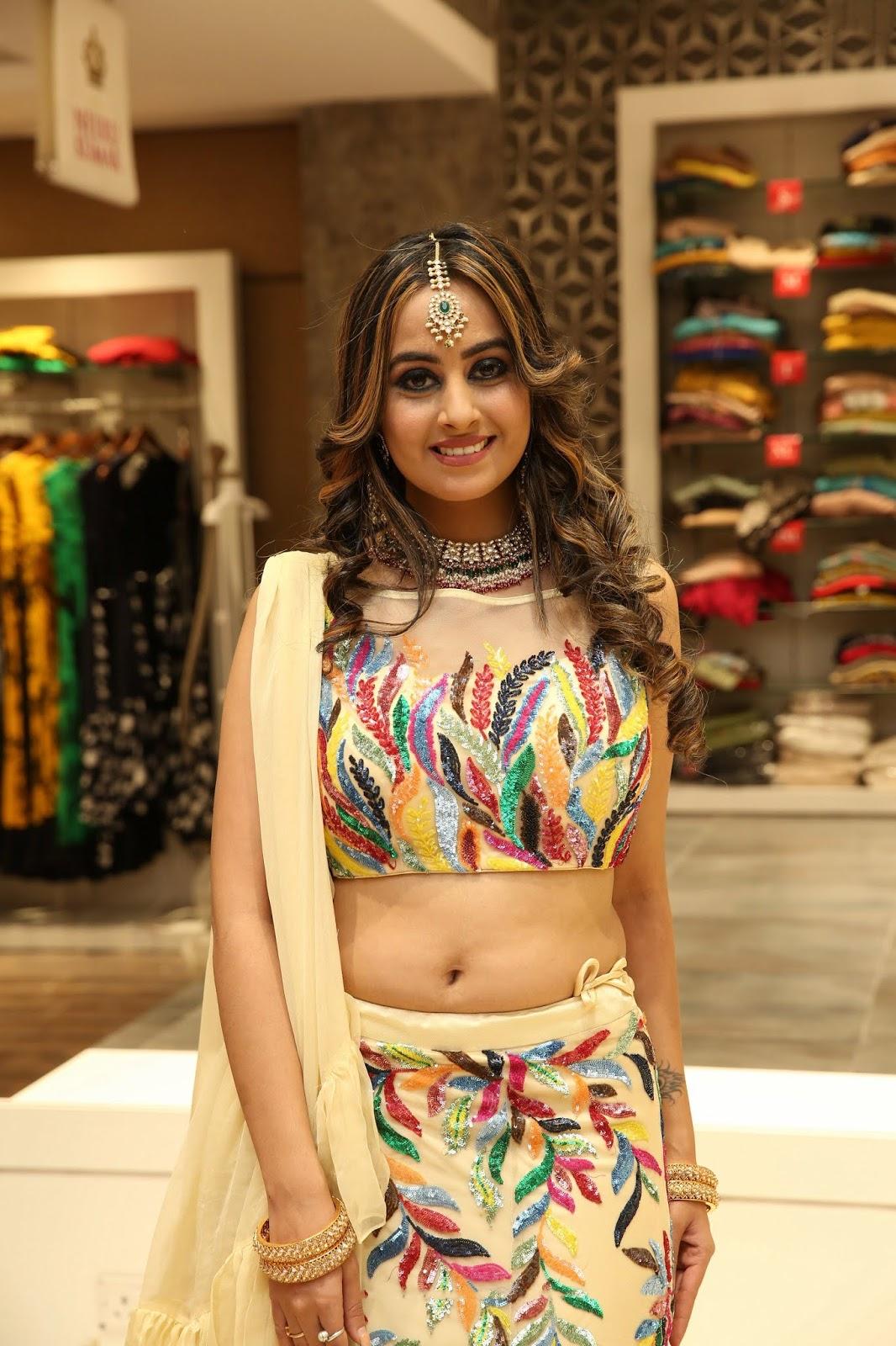 Ameeksha's Hot Deep Navel In Cultural Outfit