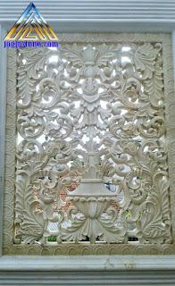 Loster / roster ventilasi udara dibuat dari batu alam jogja motif gambar ukiran klasik atau ukiran jawa
