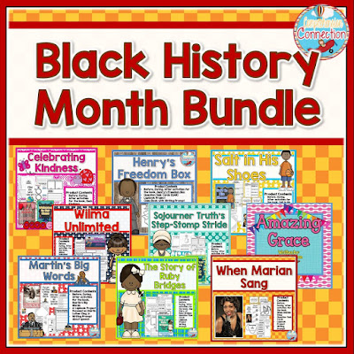 This unit bundle features 9 different books for celebrating black leaders, singers, athletes, and scientists. Themes include perseverance, overcoming challenges, friendship, and more.
