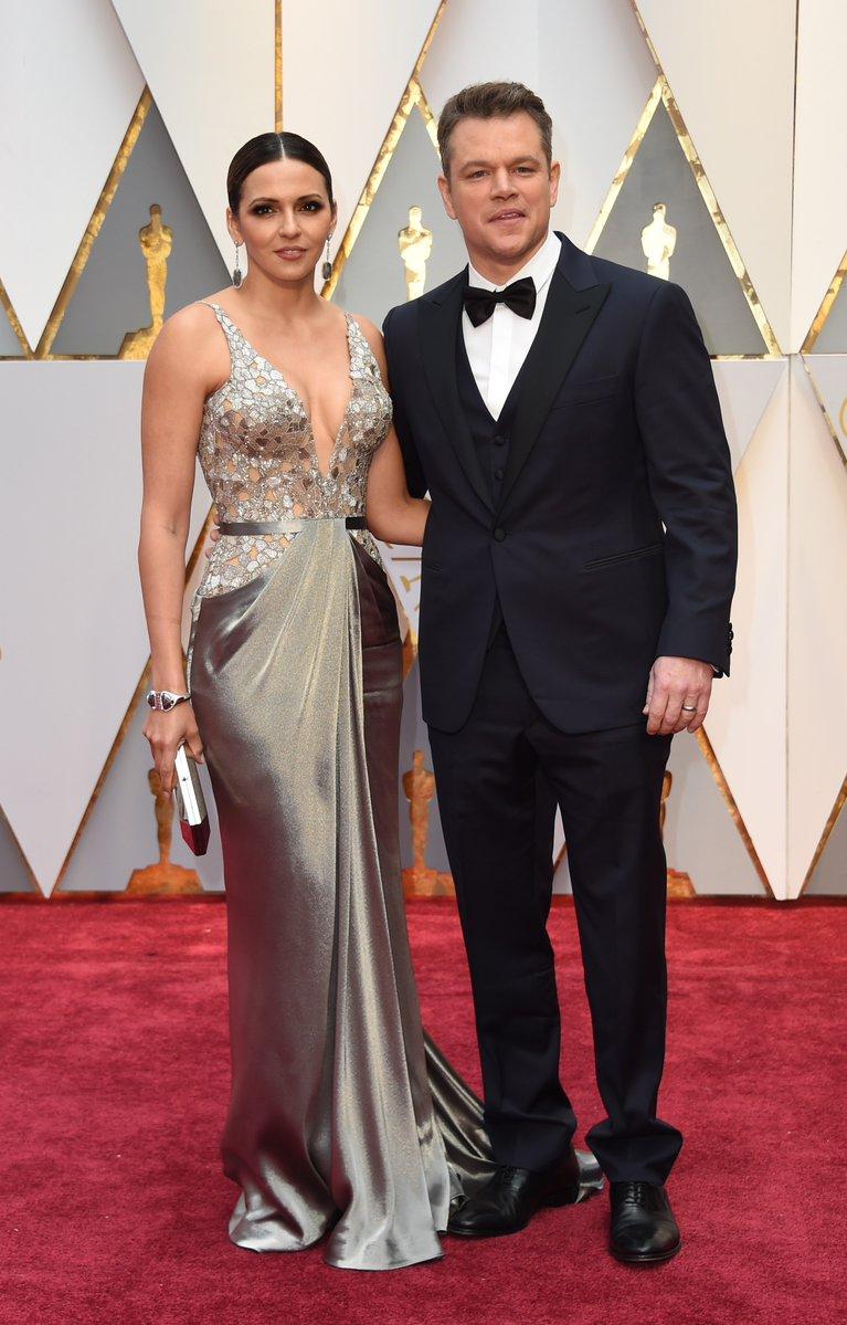 Luciana Barroso & Matt Damon - Oscars 2017