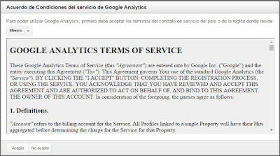 Acuerdos de Google Analytics