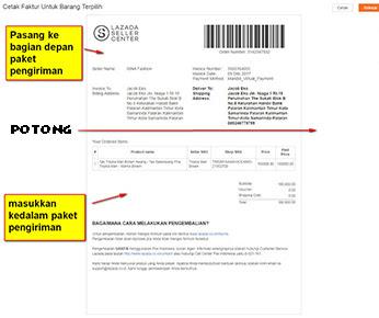 Cetak Invoice Penjualan Lazada
