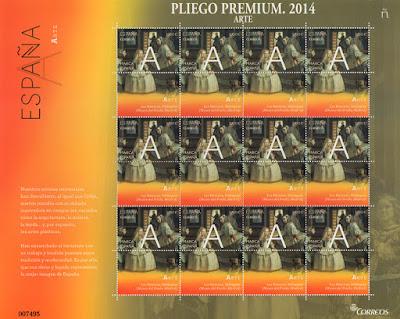 Pliego Premium dedicado a la A de la Marca España con Las Meninas de Velázquez