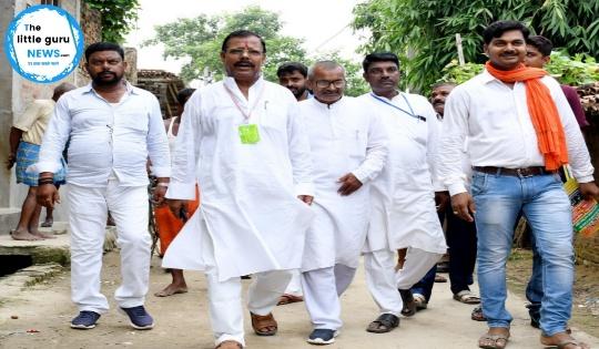विधायक ने मीरपुर पंचायत के दर्जनों गांव का भ्रमण किया लोगों से माँगा जनसमर्थन