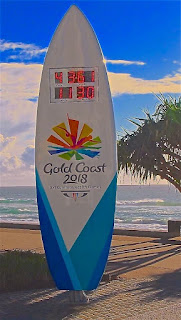 Commonwealth Games Clock 4 Years before Event