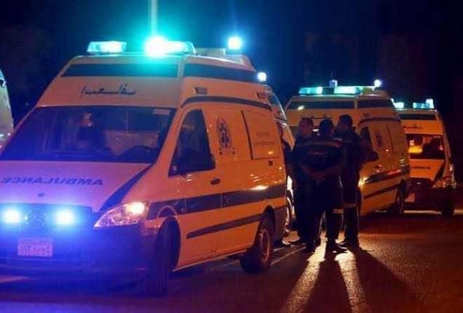 مصرع سيدة وإصابة 4 أشخاص أثر حادث تصادم سيارة ملاكي بتروسيكل بالفيوم