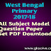 West Bengal Primary TET Model Question Paper Exam 2018 Sample Question Paper Download