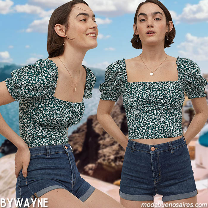 manga globo blusita moda mujer primavera verano 2021