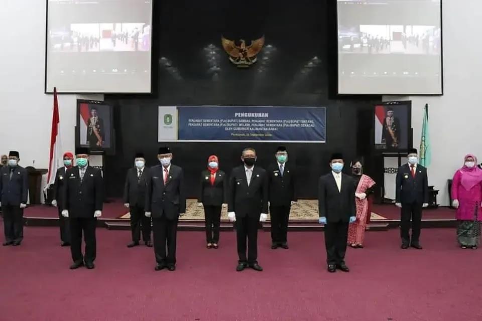 Sutarmidji Lantik 4 Pejabat Sementara Bupati di Kalbar
