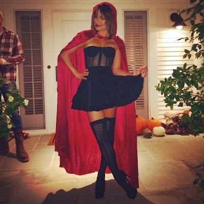 Lea Michelle petit chaperon rouge Halloween 2014