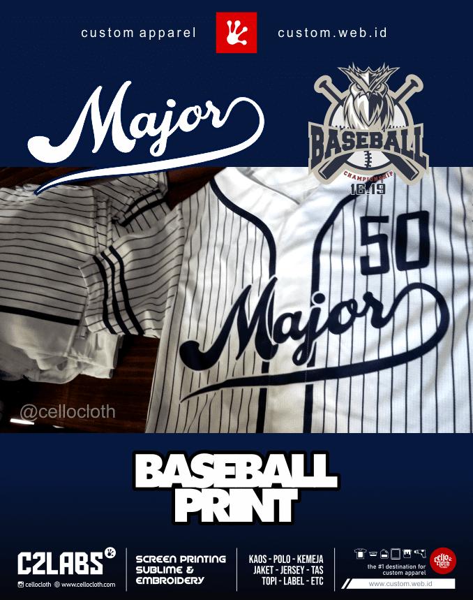 Mayor Baseball Full Printing - Vendor Jersey Baseball Jogja