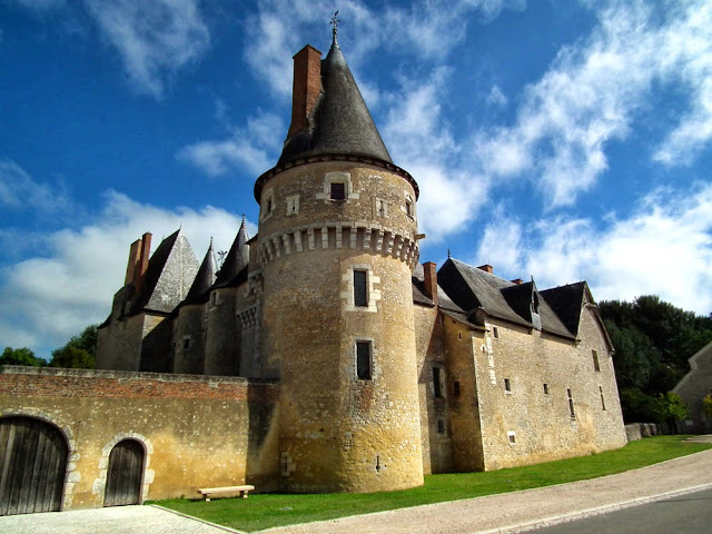 Chateau of Fougeres sur Bievre. Loir et Cher. France. Photographed by Susan Walter. Tour the Loire Valley with a classic car and a private guide.