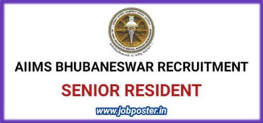AIIMS Bhubaneswar Recruitment 2020 Senior Resident Jobs