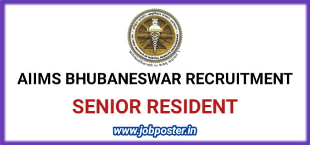 AIIMS Bhubaneswar Recruitment 2020 Senior Resident Jobs