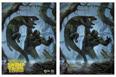 Swamp Thing Fine Art Giclee Print by E.M. Gist x Bottleneck Gallery x Justin Ishmael x DC Comics