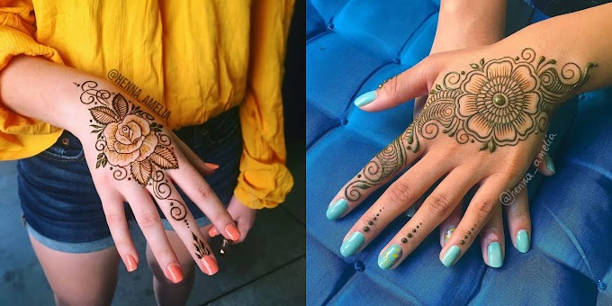 50+ Latest Flower Henna Mehndi Designs | Mehndi Creation