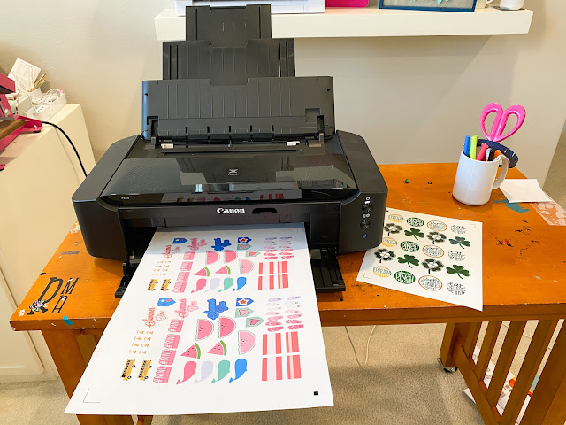 "15"" Silhouette CAMEO 4 Plus, 15"" Silhouette CAMEO Plus, Print and Cut, Sticker Paper, Wide Format Sticker Sheet"