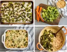 Broccoli casserole with cheese and beans recipe,