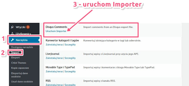 Import komentarzy Disqus do WordPressa