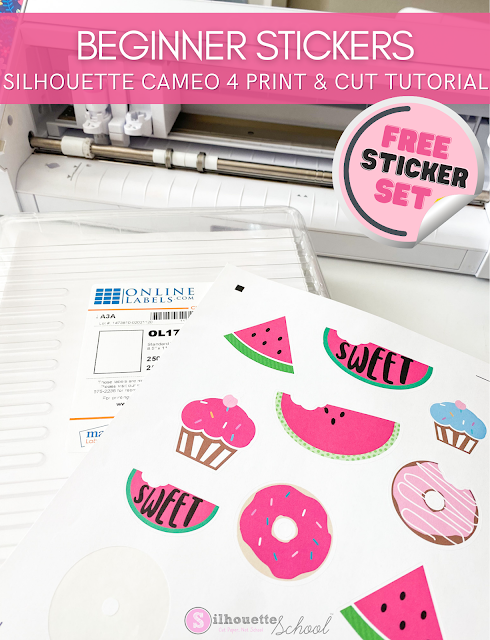 silhouette 101, silhouette america blog, stickers, cameo 4, print and cut
