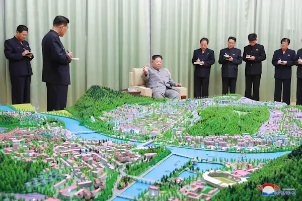 Kim Jong Un guides master plans for Kanggye and Manpho cities, June 1, 2019