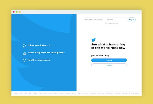 اليوم تم إطلاق التصميم الجديد لموقع تويتر Twitter New Design 2019