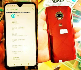 The leaked icon tin laissez passer on the axe hold upward seen alongside the H2O drib notch Moto G7 volition hold upward launched alongside the notch!