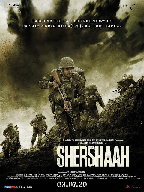 Shershaah (2020) shershaah movie, Shershaah (vikram batra biopic)