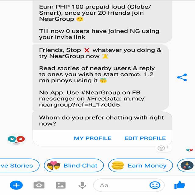 How to Use NearGroup Chat App in Facebook Messenger - HowToQuick Net