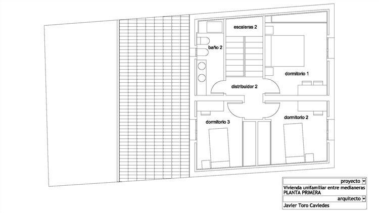 proyecto de vivienda unifamiliar entre medianeras con aerotermia 2