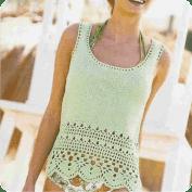 Blusa a Crochet y Knitting o Dos Agujas
