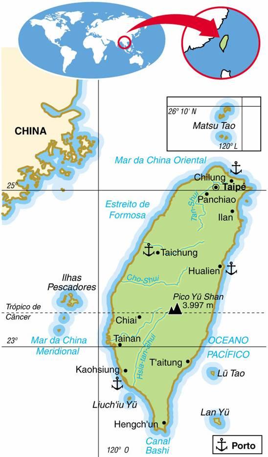 TAIWAN (FORMOSA) - ASPECTOS GEOGRÁFICOS E SOCIAIS DE TAIWAN