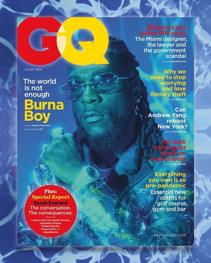Burna Boy Is The Cover Star For The Latest Issue Of British GQ