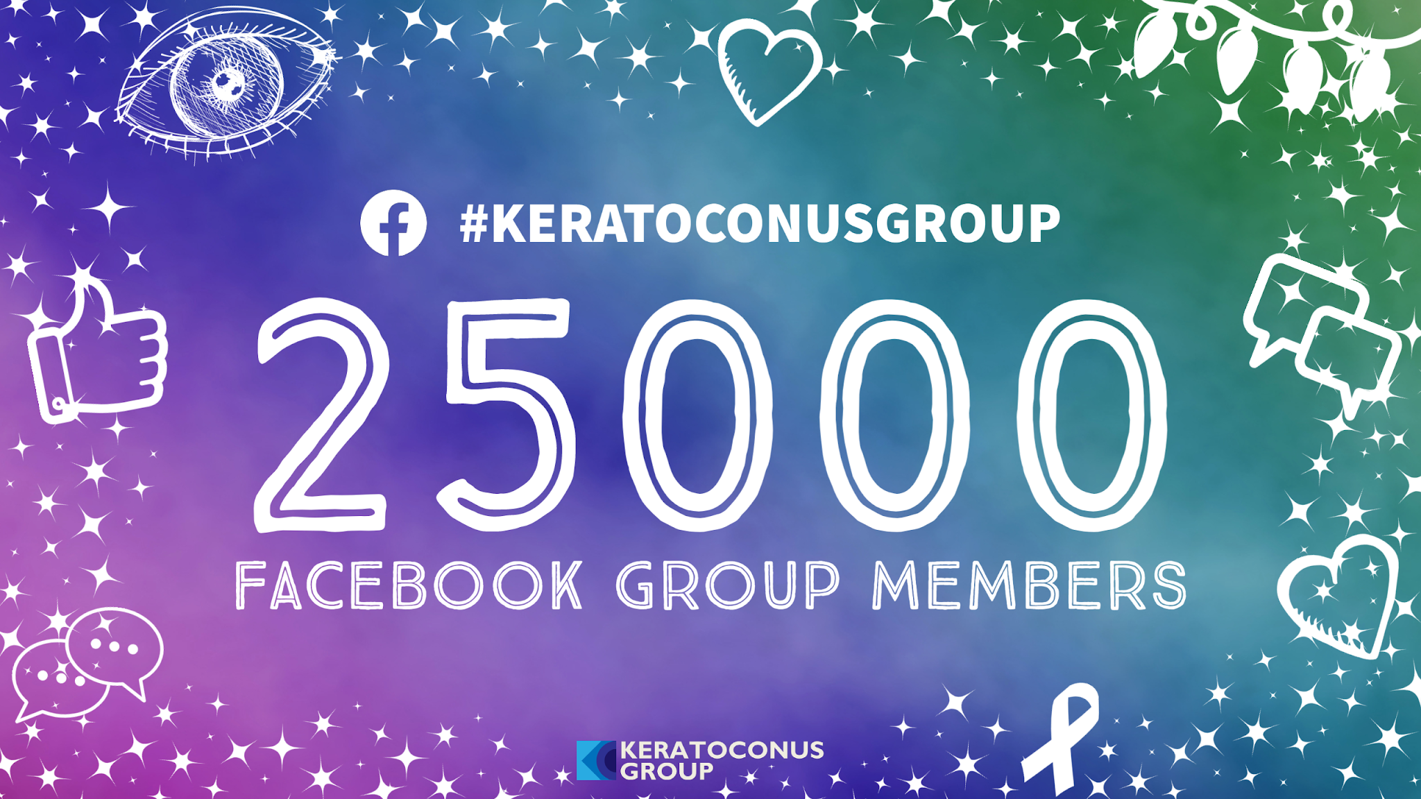Keratoconus Group's private Facebook community now has more than 25,000 members