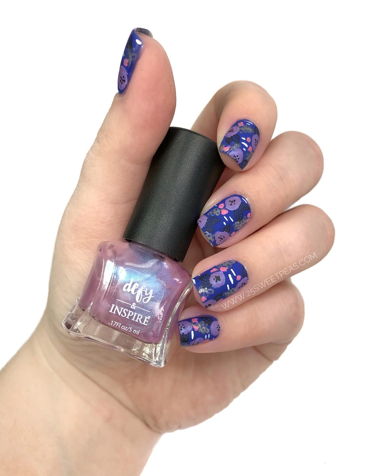 Floral Nail Art: 2 Polishes, 3 Looks + Floral Nail Art