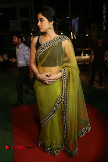 Actress Regina Stills in Green Saree at Vivaha Bhojanambu Restaurant Launch  0143.JPG