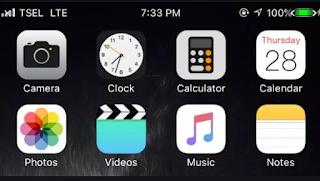 Tema IOS 13 Black Untuk Oppo dan Realme