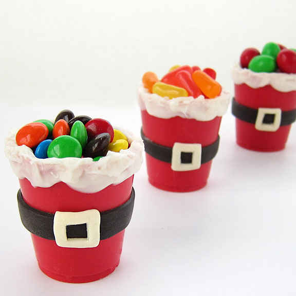 Chocolate Santa Candy Cups