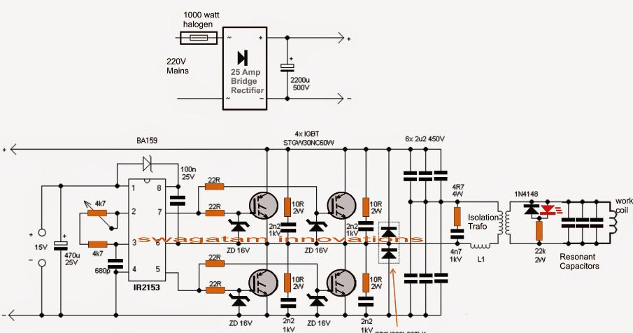 Induction Heater Circuit Using IGBT ~ Electronic Circuit