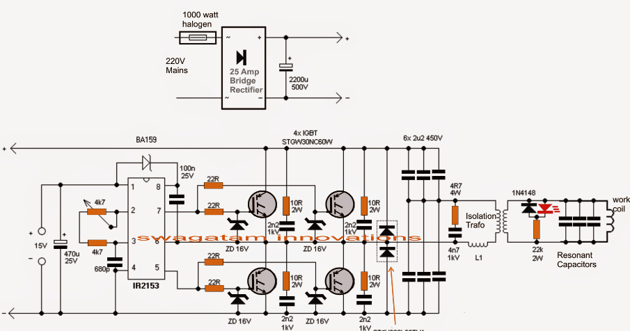Induction Heater Circuit Using Igbt Electronic Circuit