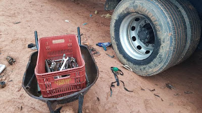 Desmanche Clandestino de Peças de Caminhão termina na prisão de sete pessoas em Registro-SP