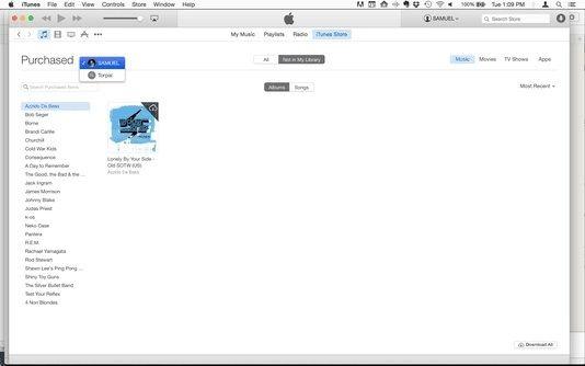menggunakan family sharing di iTunes