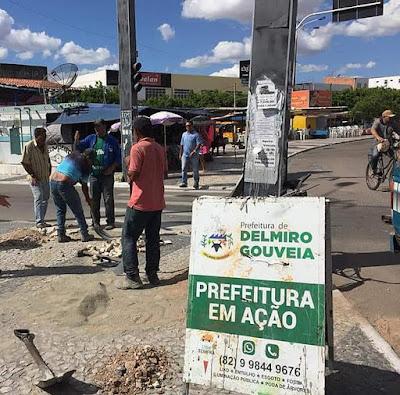 Prefeitura de Delmiro Gouveia promove melhorias na acessibilidade no centro da cidade