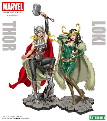 Teasers per Thor e Loki Bishoujo ver della Kotobukiya