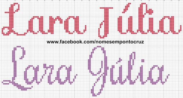 Nome Lara Júlia em Ponto Cruz