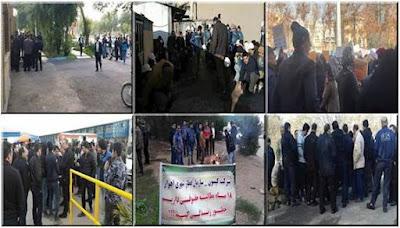 عشرات من المواجهات الواسعة بين الطلاب والقوات القمعية في جامعة طهران