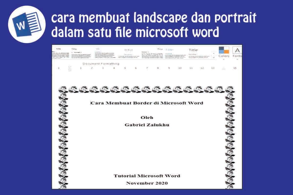 Cara Membuat Page Border (Bingkai) di Word