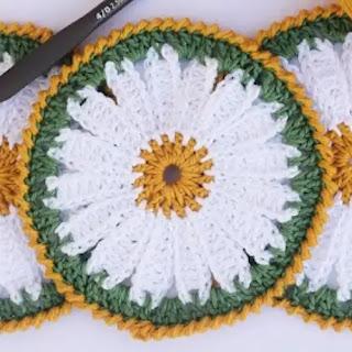 Portavasos margarita a Crochet