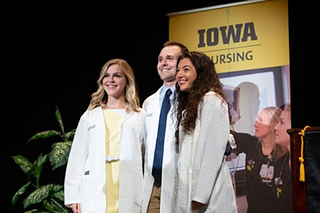 Sydney Billimack participates in UI College of Nursing's biannual White Coat Ceremony, Metamora Herald