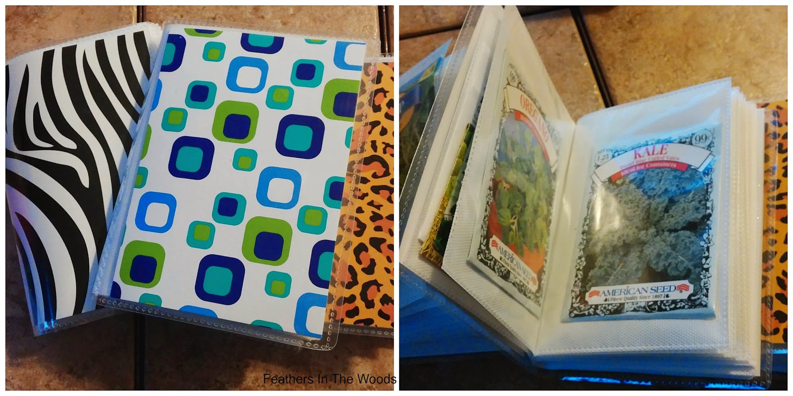 organize seed in mini photo albums